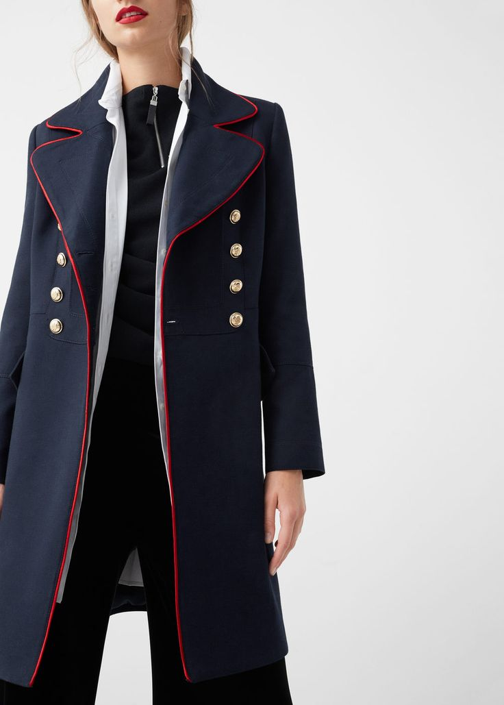 Military style coat -  Women | MANGO USA
