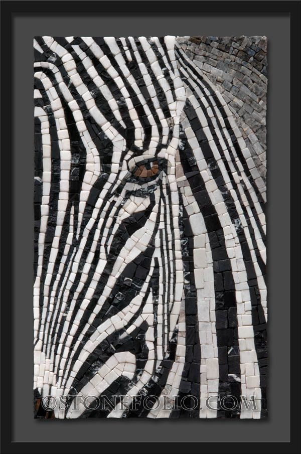 Mosaic zebra - Roberto Centazzo  - Stone Folio - Natural Stone & Marble Mosaics