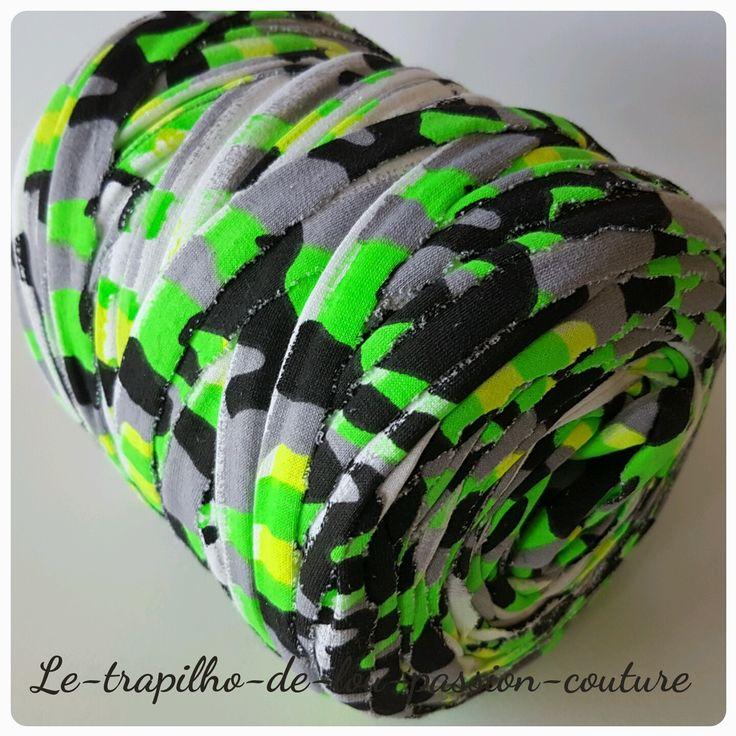 Grosse Bobine de trapilho fantaisie coton elastique : Fils par le-trapilho-de-lou-passion-couture