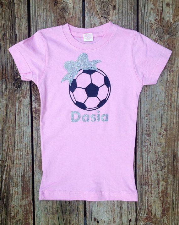 Custom girls soccer shirt by PTCDesignArts on Etsy
