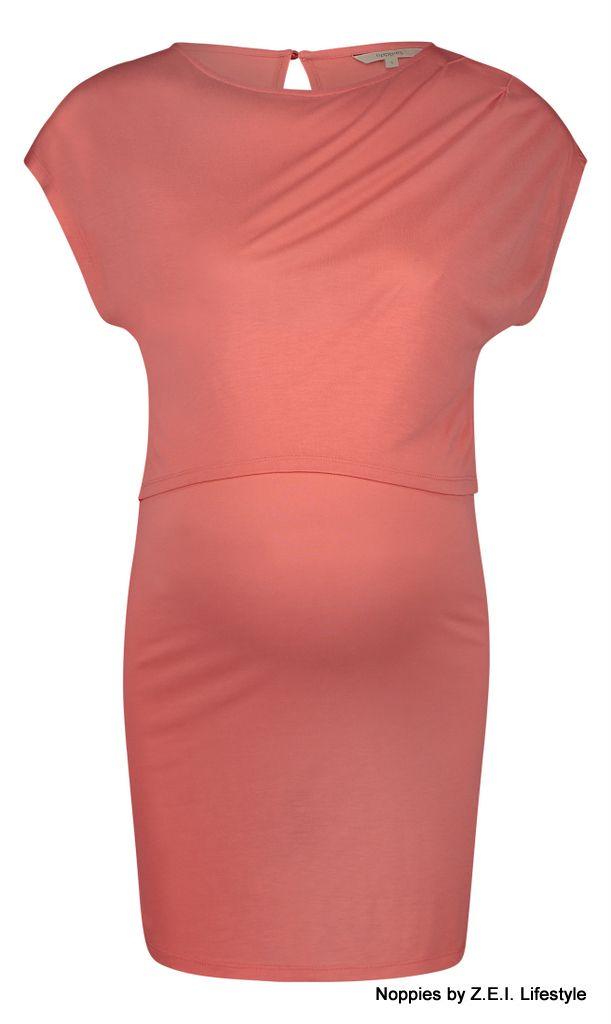 Basic Zwangerschapskleding.Noppies Noppies Coral Shirt Met Voedingsfunctie Bella 80218