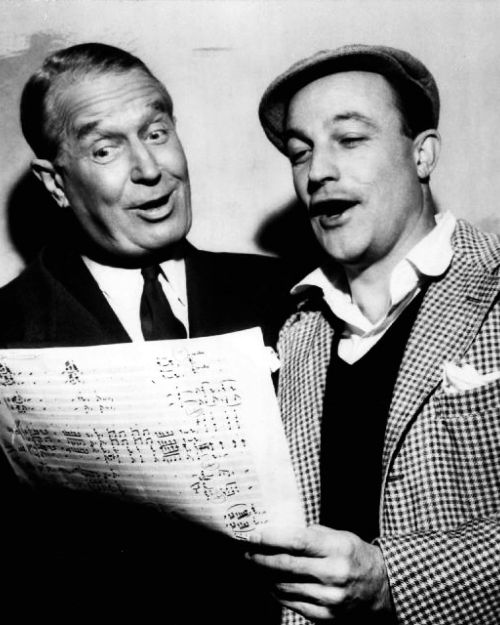 Maurice Chevalier and Gene Kelly