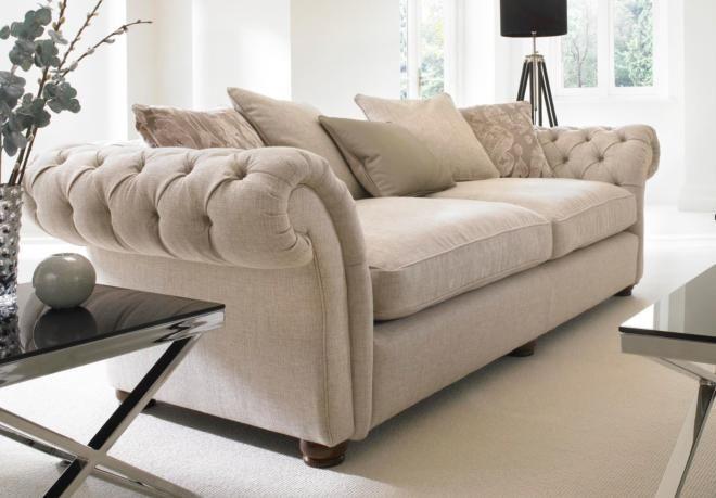 Furniture Village 4 seater sofa + cushion pack offer - langham - sofa sets | corner