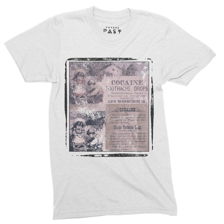 Future Past Clothing Victorian Toothache Drops T-Shirt / White out now for £24.97.https://goo.gl/rxd2Ro  #tb303 #raver #techno #mensstyle #acid #fashion #electronicmusic #dannyrampling #housenation #studio54 #rave #acidhouse #disco #mensfashion #futurepastclothing