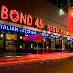 Bond 45 - West 45th Street in New York.  Totally wonderful dining spot near Times Square....service and food was out of this world....must get cheesecake too!!