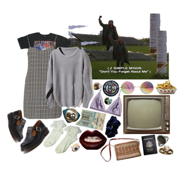 """""""don't you forget about me"""" by hippierose on Polyvore"""