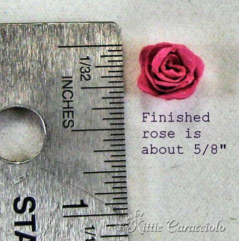 mine felt rose