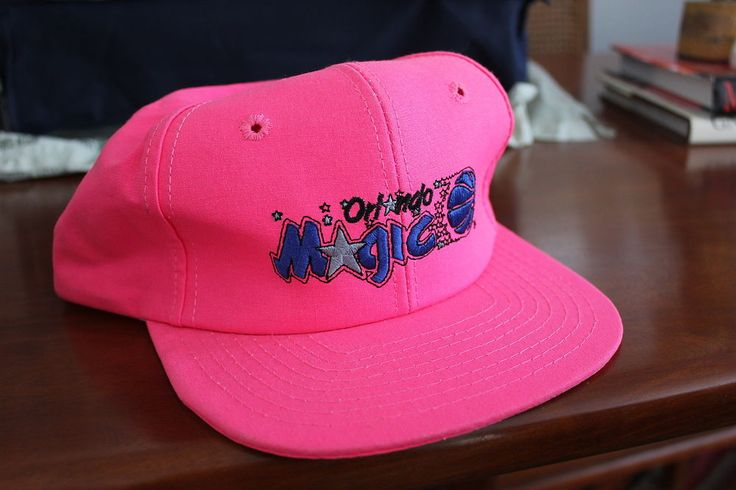 Vintage 90's Orlando Magic Snapback Hat In Bright Pink - Rare - #NBA Shaq from $12.99