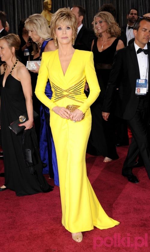 Jane Fonda w kreacji Atelier Versace