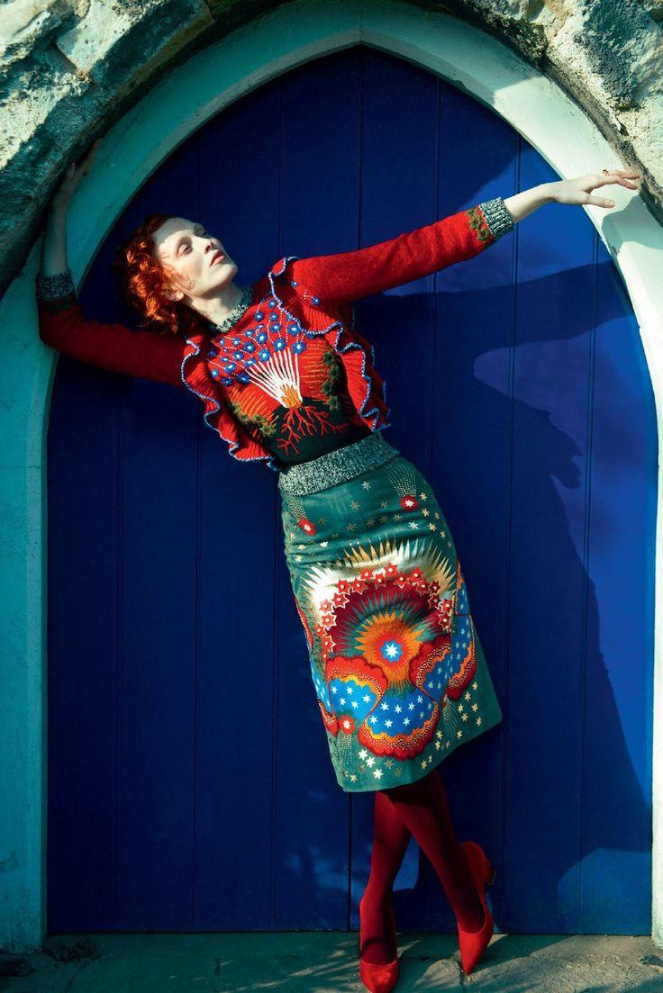""""""" Karen Elson by Erik Madigan Heck for Harper's Bazaar UK July 2016 """""""
