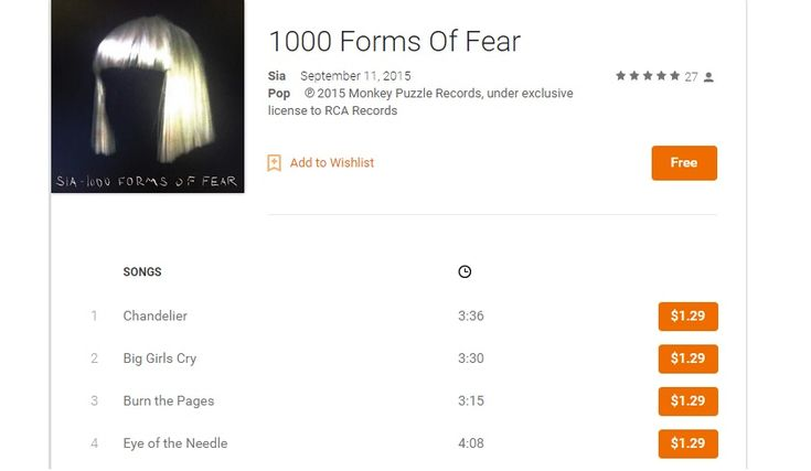 Free on Google Play: Sia's 1000 Forms of Fear album, best of Britney, and some Latin Vibes - https://www.aivanet.com/2015/09/free-on-google-play-sias-1000-forms-of-fear-album-best-of-britney-and-some-latin-vibes/