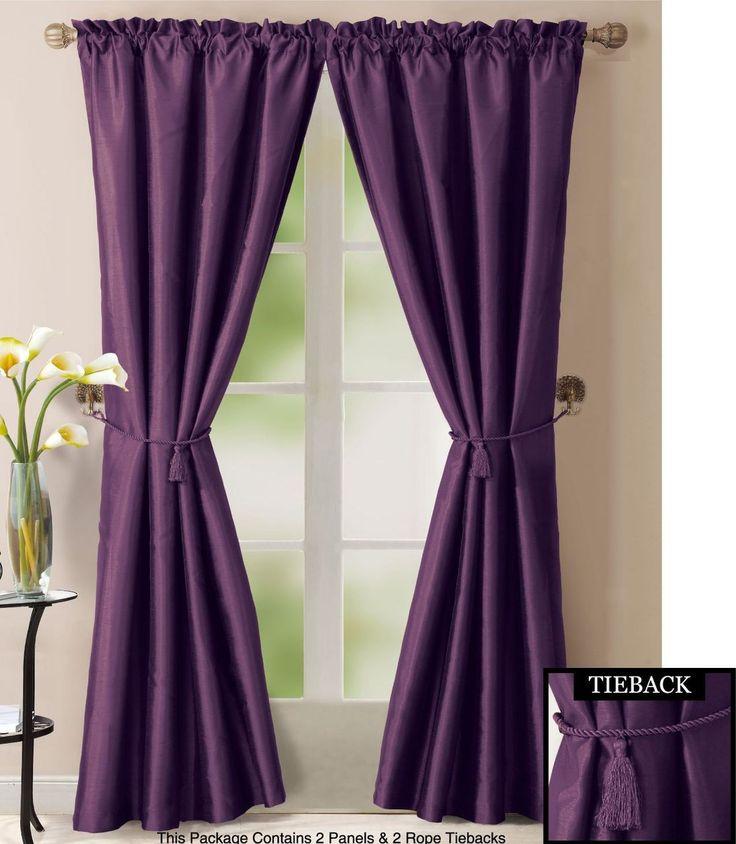Bathroom And More Purple Window Treatment Set 2 Faux