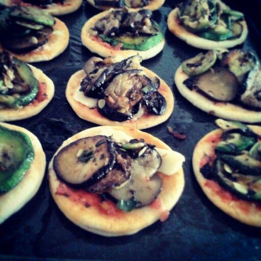 Pizza con verduras