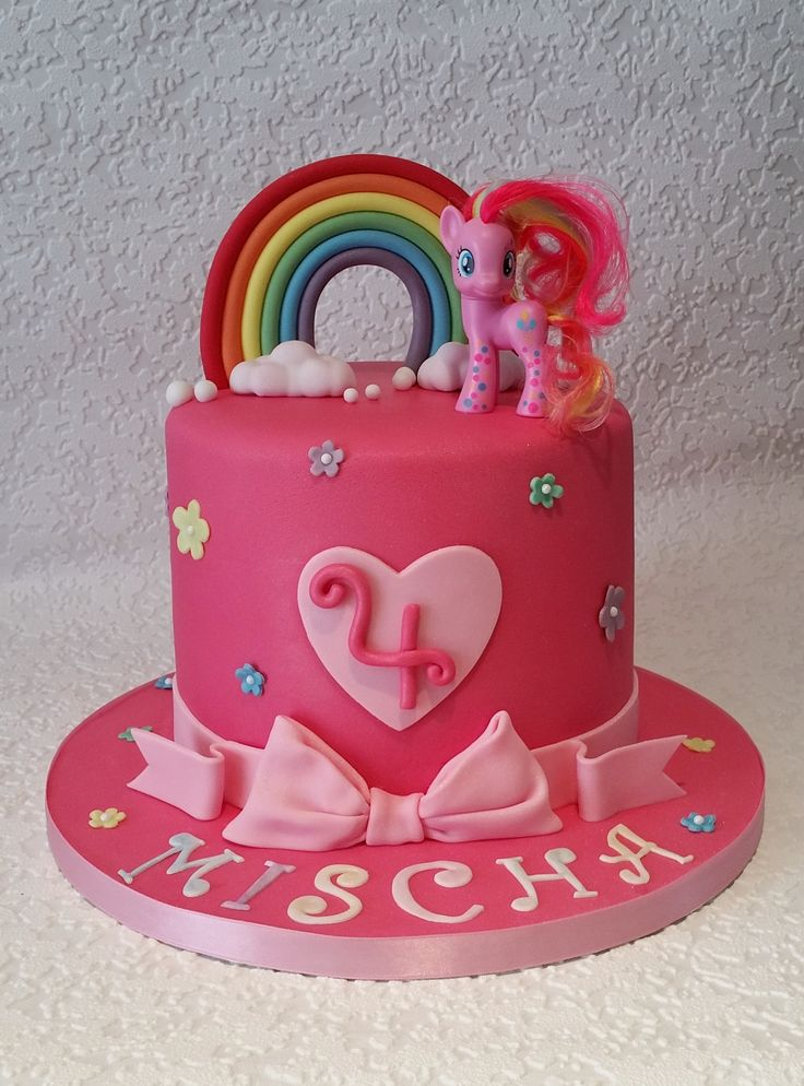 My Little Pony cake by Baking Angel - rainbow sponge inside!