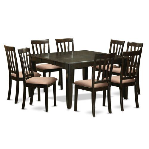 New Pilning 9 Piece Extendable Solid Wood Dining Set Kitchen Dinings Room Furnit Solid Wood Dining Set Rectangular Dining Table Solid Wood Table Tops