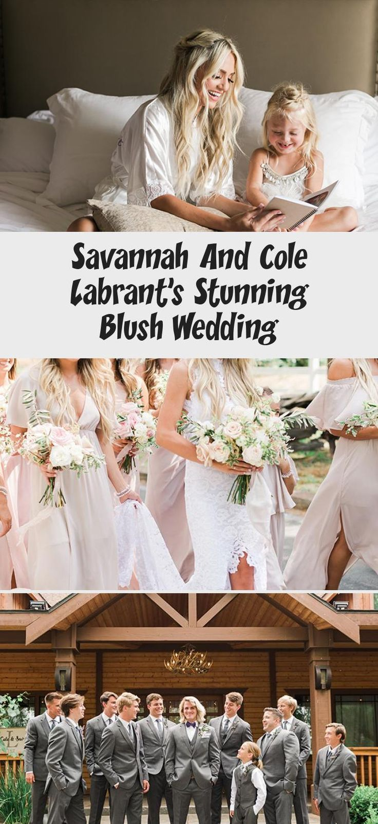 Savannah and Cole LaBrant's Stunning Blush Wedding - Inspired By This #BridesmaidDressesBlue #BridesmaidDressesLace #AfricanBridesmaidDresses #WhiteBridesmaidDresses #BridesmaidDressesTurquoise