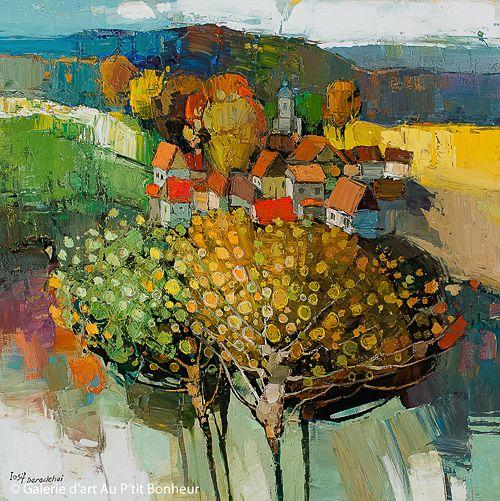 Iosif Derecichei, 'Just Another Peaceful Sunday', 40'' x 40'' | Galerie d'art - Au P'tit Bonheur - Art Gallery