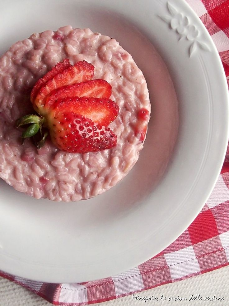 Risotto alle fragole.