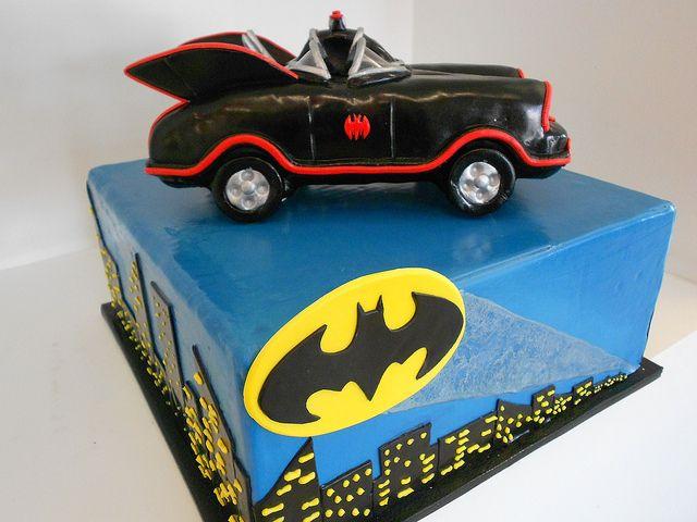 Classic Batman cake