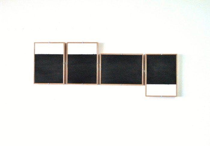 dario escobar - rectangulo negro en cuatro partes (2011)
