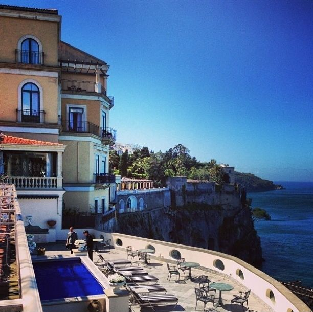 Bellevue Syrene Hotel Sorrento, Sorrento, Italy — by Fen. The beautifil Bellevue Syrene hotel in Sorrento. One of the hotels in Sorrento that has a breathtaking view.