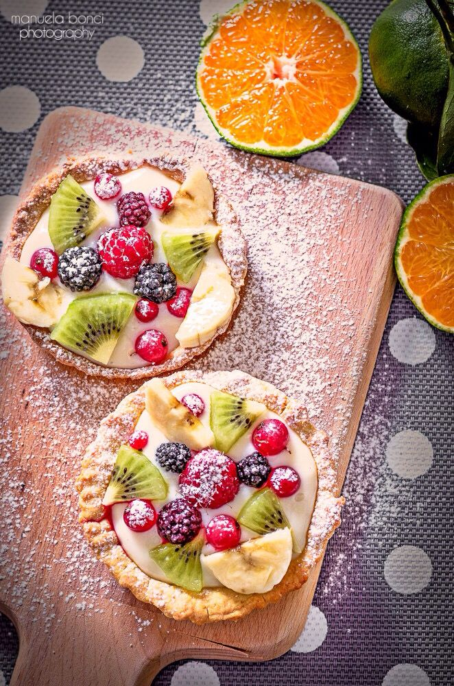 Crostatine crema e frutta