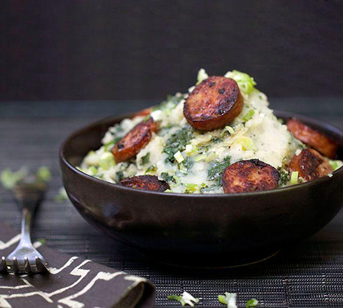 Dutch Stamppot - Potato Kale Mash with Sausage - Panning The Globe