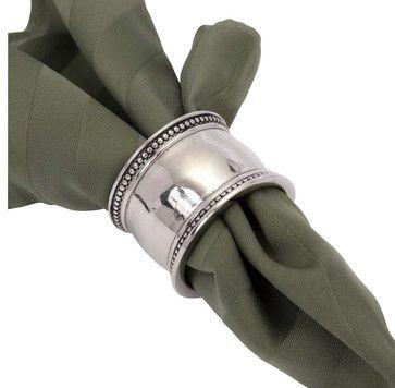 Pearl Bead Napkin Ring contemporary-napkin-rings