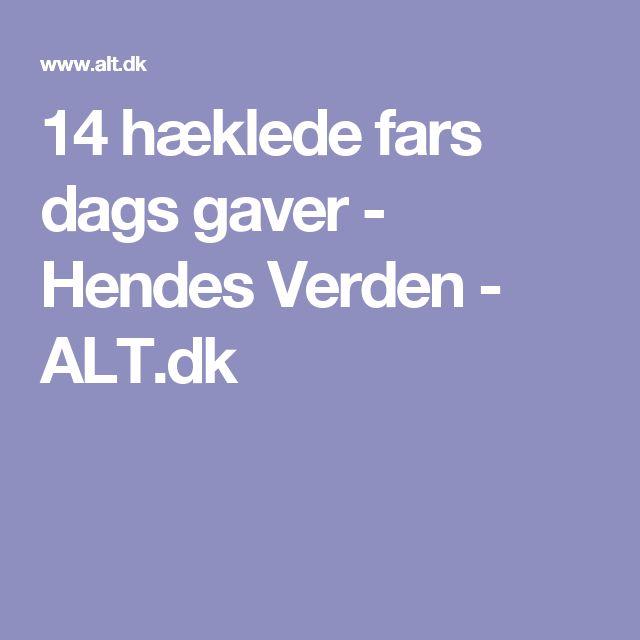14 hæklede fars dags gaver - Hendes Verden - ALT.dk