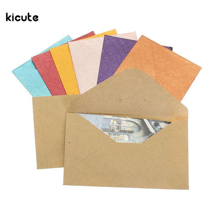 50Pcs Vintage Design Small Colored Blank Mini Paper Envelopes Wedding Party Invitation Envelope Greeting Cards Gift Envelope
