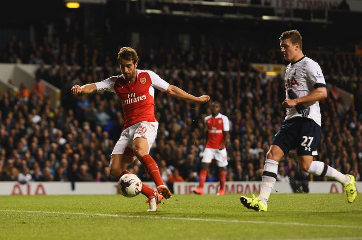 Two goals by Mathieu Flamini in the Capital One Cup third round match. Tottenham Hotspur 1-2 Arsenal (September 2015)