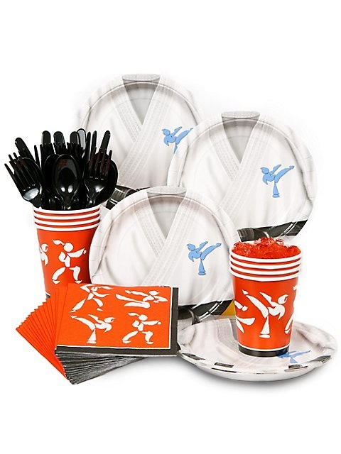Karate Party Standard Kit Serves 8 Guests - Boys Parties & Party Supplies