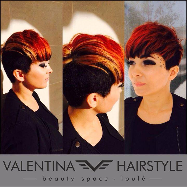 super krótkie rude włosy