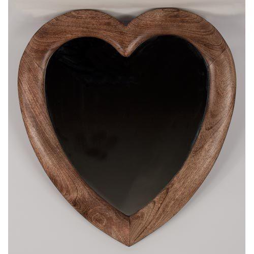 Once A Tree Heart Shaped Wall Mirror