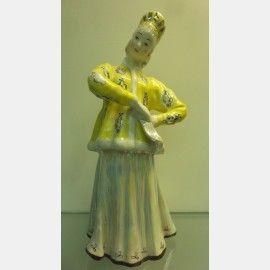 """Фарфоровая статуэтка """" Плясунья"""" . Дулево. 1964г.,  Фарфоровые статуэтки"""