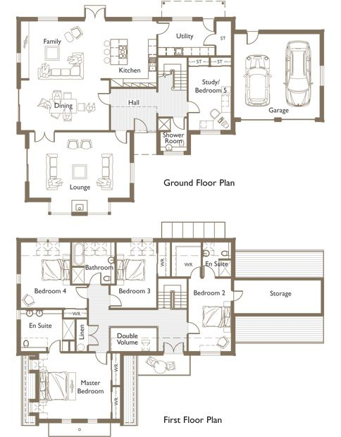 House plans golf course home house design plans for Golf course house plans