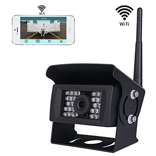 SVTCAM SV-928WF Wireless Backup Camera for Truck,RV,Camper,Trailer. WiFi Backup Camera Work with iphone , ipad or Andriod Devices - [Upgrade Version] SVTCAM SV-928WF WiFi Backup Camera for Truck/RV/Camper/Trailer/Bus.Use your smart phone or tablet as a rear view monitor, Support IOS and Android SystemSV-928WF WiFi Backup Camera Features Weather-Proof Housing,works great in all weather conditions The camera creates its own hot...