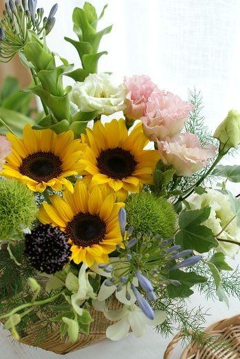 『ひまわりの季節です』 http://ameblo.jp/flower-note/entry-11285777763.html