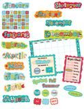 "Checkout the ""Dots On Turquoise Calendar Bulletin Board Set"" product"