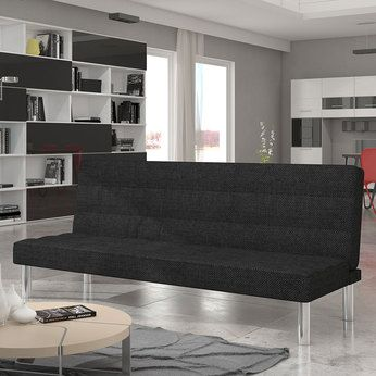 Banquette clic clac noir en tissu | Sofamobili