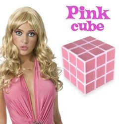 Kostka dla blondynek Pink Cube - raczej nie da się jej nie ułożyć :D