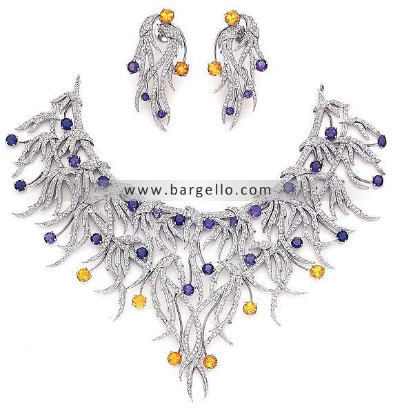 Asian Bridal Jewellery, Asian Bridal Jewelry, Asian Artificial Jewelry, Indian Jewelry, Kundan India J834 Diamond Like