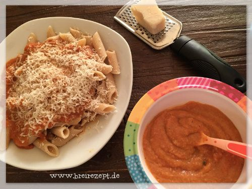 Schnelles Rezept für Mutter und Kind kochen: Nudeln mit Gemüsesauce sind ein leckeres Mittagessen für Mama und ihr Baby