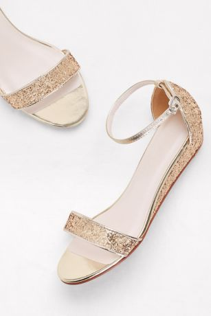 8102568d798a Glittery Low-Wedge Sandals Style MAYE