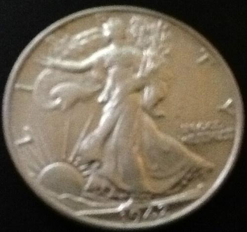 1942 Walking Liberty Half Dollar minted in Denver