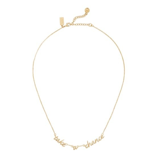 "kate spade ""Take a Chance"" necklace $75Everyday Necklaces, Necklaces 75, Chances Necklaces, Jewelry, Katespade, Christmas Lists"