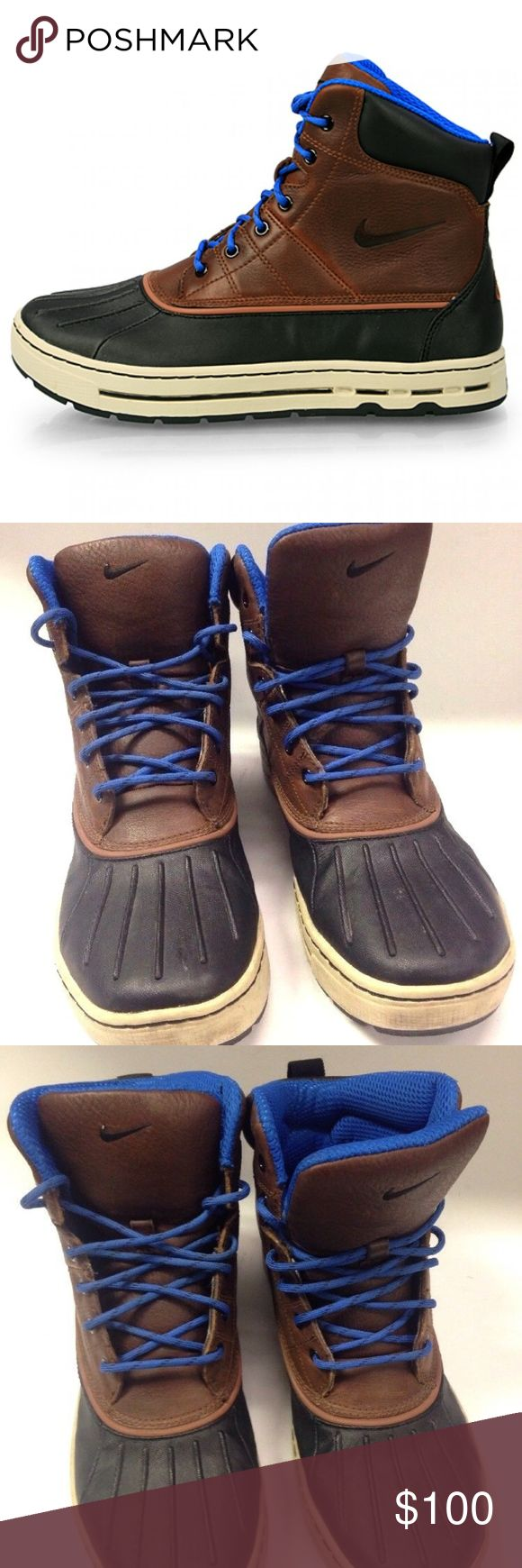 NIKE ACG WOODSIDE 386469-201 DUCK BOOTS leather NICE PAIR OF NIKE ACG WOODSIDE 386469-201 DUCK BOOTS  MEN SIZE 9.5 US  VERY NICE USED CONDITION, LIGHT WEAR Nike ACG Shoes Boots