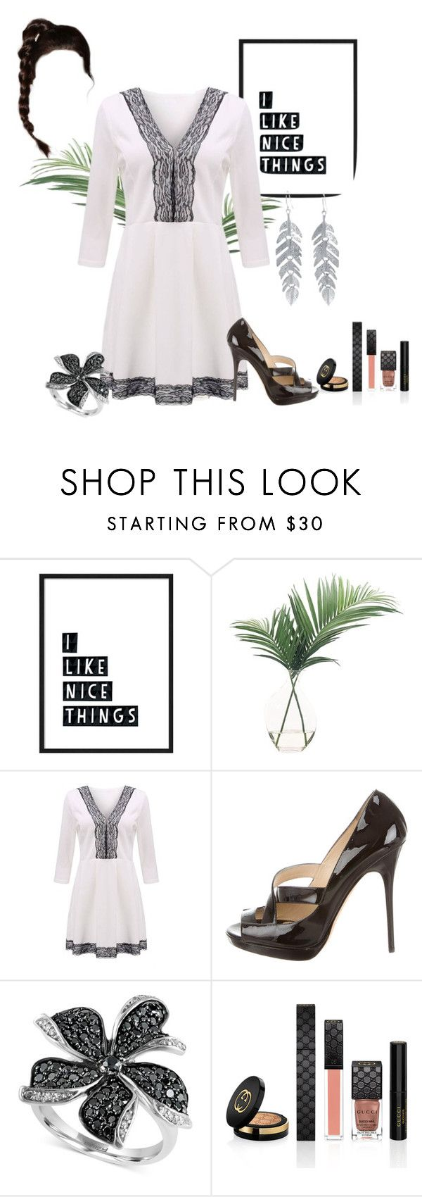 """Untitled #3089"" by empathetic ❤ liked on Polyvore featuring NDI, Jimmy Choo, Effy Jewelry, Gucci and Belk Silverworks"