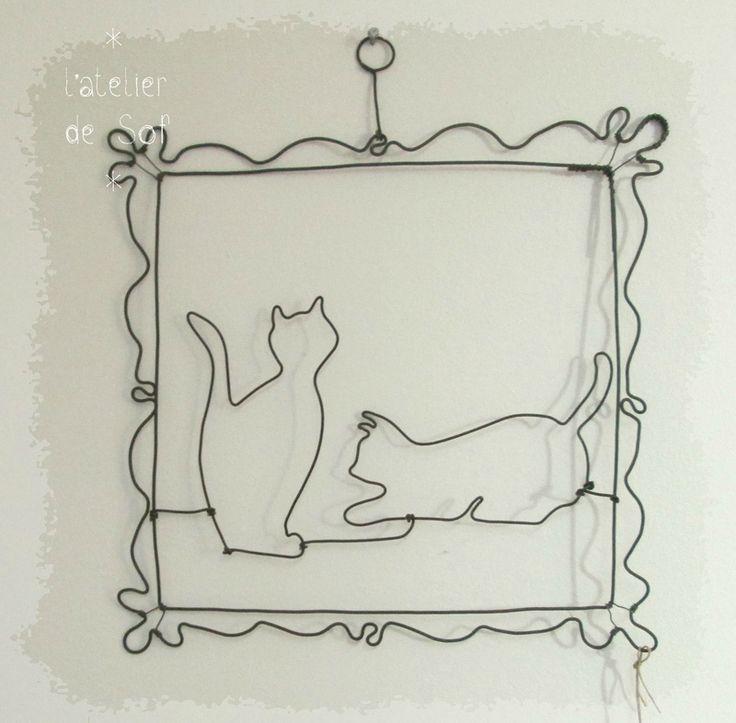 fil de fer chats by latelierdesof