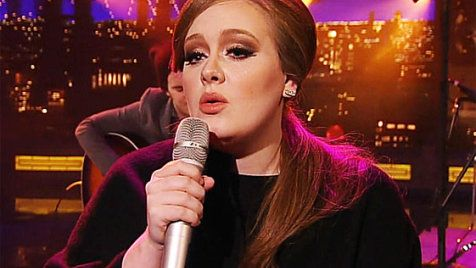 Adele, another favorite.....Lovesong (Live on Letterman)